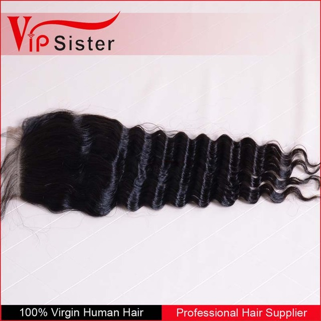 Hot Selling Deep Wave Top Lace Closure 100% European Remy Hair