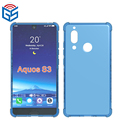 Full Clear Transparent Gel TPU Back Cover For Aquos S3 Case