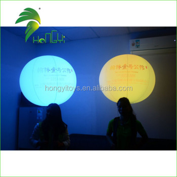 Advertising Custom Printed Inflatable LED Light Backpacking Air Ball Lighting Balloon