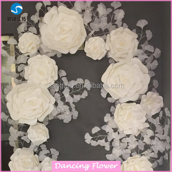 Hobby dry lobby wholesale paper flowers for wall Decoration wedding