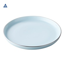 2018 New 7.5 inch Blue Porcelain Round Dish for Hotel, Catering, Restaurant, Banquet