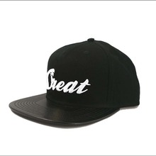 Great Leather Brim Head Cap Strap Back Cap Snapback Hats For Small Heads