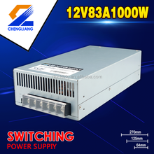 1000W 12V SINGLE OUTPUT LED POWER SUPPLY AC DC WITH CE/ FCC PASS