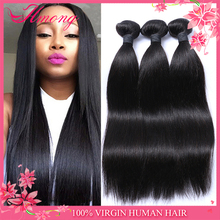 Grade 6a cheapest wholesalse price list non remy dyeable Brazilian human hair sew in weave