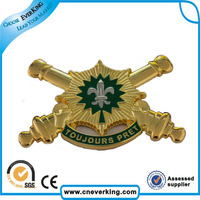 new flashing army cap logo badge for children