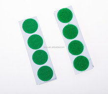 Customized sticky self adhesive hook and loop coins dots