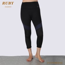 OEM Under hi -rise tight sport yoga sexy mesh pants in wholesale
