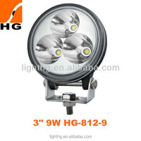 "High quality 3""9W CREE LED Light Auto Part car moto accessories led driving fog light HG-812-9"