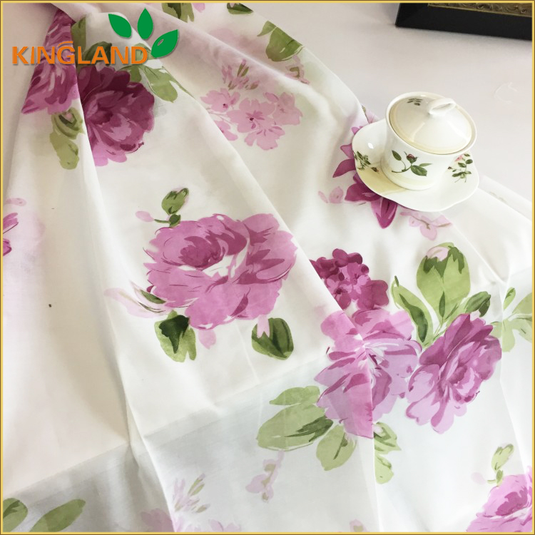 Home Textile voile printed sheer curtains