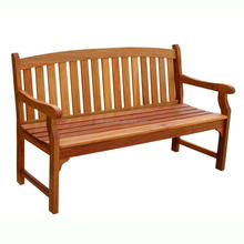 Park long chair outdoor carved double seat teak wood bench