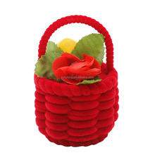 flower basket shape gift boxes jewelry ring box
