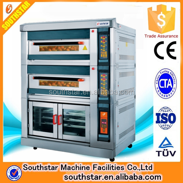 China manufacturer Southstar High class 2 deck 4 trays electric oven with 8 trays proofer