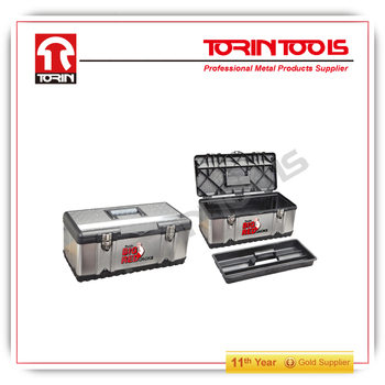 Plastic and stainless steel tool box