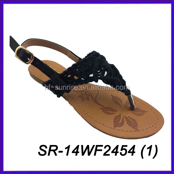 knitted upper sandals knitted fabric sandals new knitted design sandals