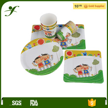 Top Ningbo Factory disposable paper party plates and cups napkin party supplies birthday
