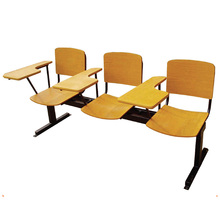 Wooden Seat and Backrest Lecture Hall Chair with Writing Pad