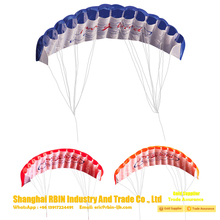 Dual Line Parachute Sports surfing Beach Kite Nylon Flying kite factory with Control Handle rainbow kite