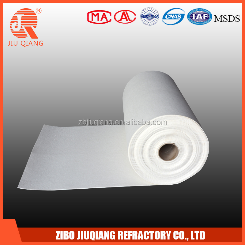 Heat Insulating low thermal conductivity ceramic fiber paper for curved gas fireplace