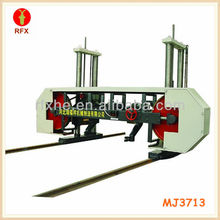 MJ3713 horizontal log cutters band saw mill