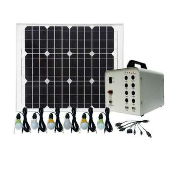 40W Small solar power system home off grid solar home appliances in energy system for charging kit