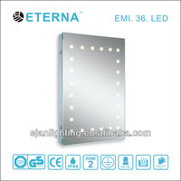 Bathroom cabinet LED automatic sense mirror light with clock