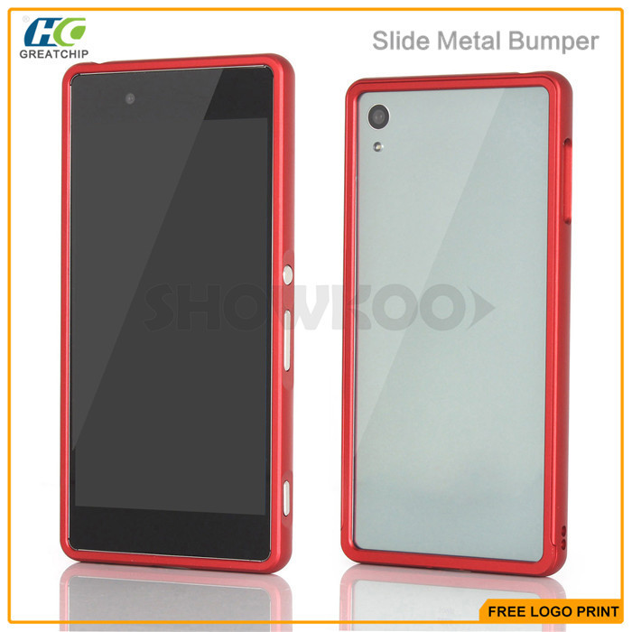 Premium metal frame case for sony xperia z5 mini frame bumper back cover