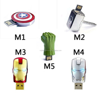 Free Shipping usb flash drive The Avengers Captain America Iron Man The Hulk Thor 4G 8G 16G USB2.0 flash memory stick pen drive