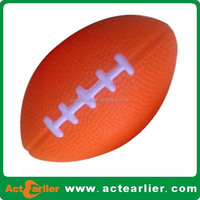 6-15cm/6inch American football/ rugby shape pu foam stress ball