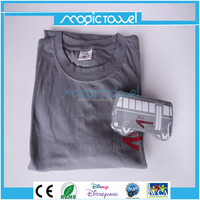 100% cotton compressed magic t shirt good promotional &gift item