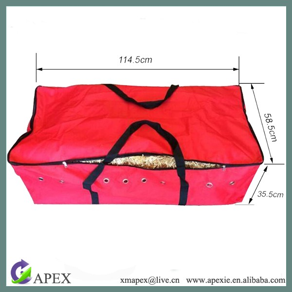 Horse Equipment Polyethylene HayNets net hole hay mesh bag