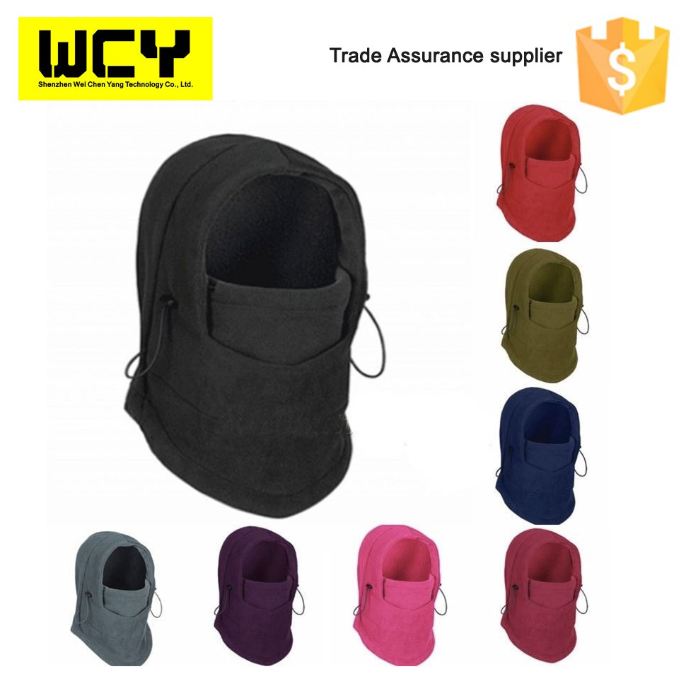 Winter Warm Men Windproof Face Beanies for Motorcycle, Thermal Fleece Balaclava Hat