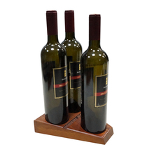 3 Bottle wine tray for home and bar and so on