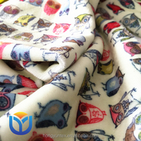 Printing spandex super-soft short velvet velour minky fabric