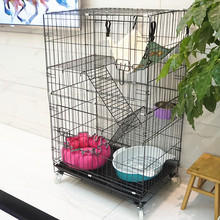 cheap indoor two level metal wire cat cage with tray malaysia