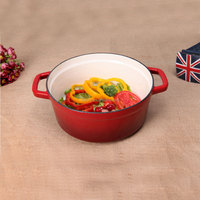 Enamel cast Iron well equipped kitchen cookware