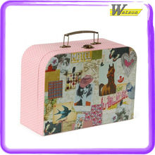 New Design Pretty Pink Pot Make-up or Craft Accessories Paper Suitcase Packaging Gift Box