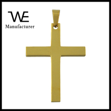 Gold Blank Jewelry Stainless Steel Cheap Necklace Cross Pendant