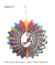 Low price wholesale metal wind spinners