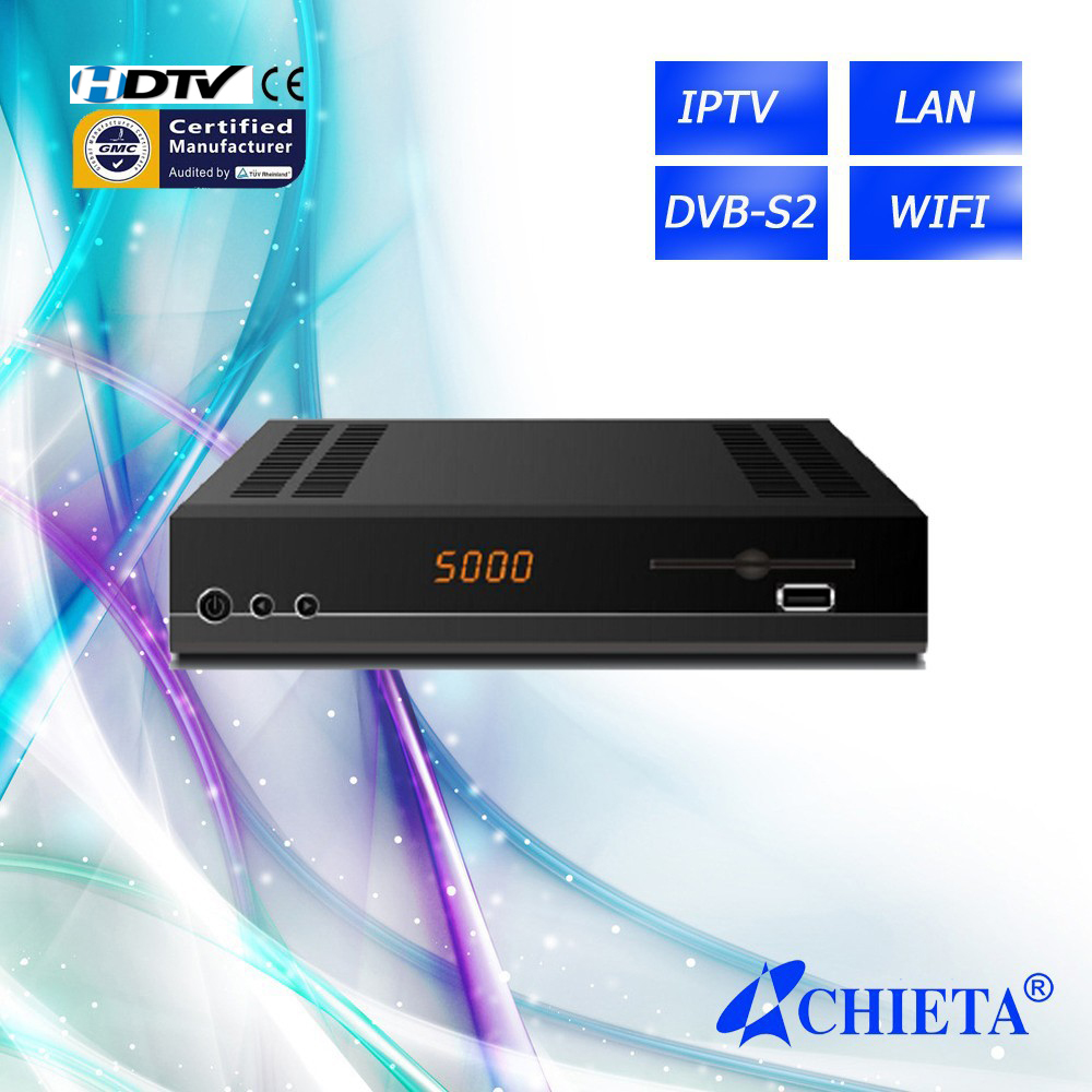 DVB-S2 IPTV Sharing Satellite Receiver with 3G WIFI RJ45