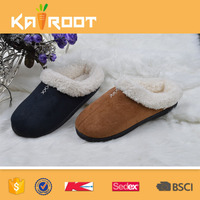 indoor winter fashion last design of mens leather slippers