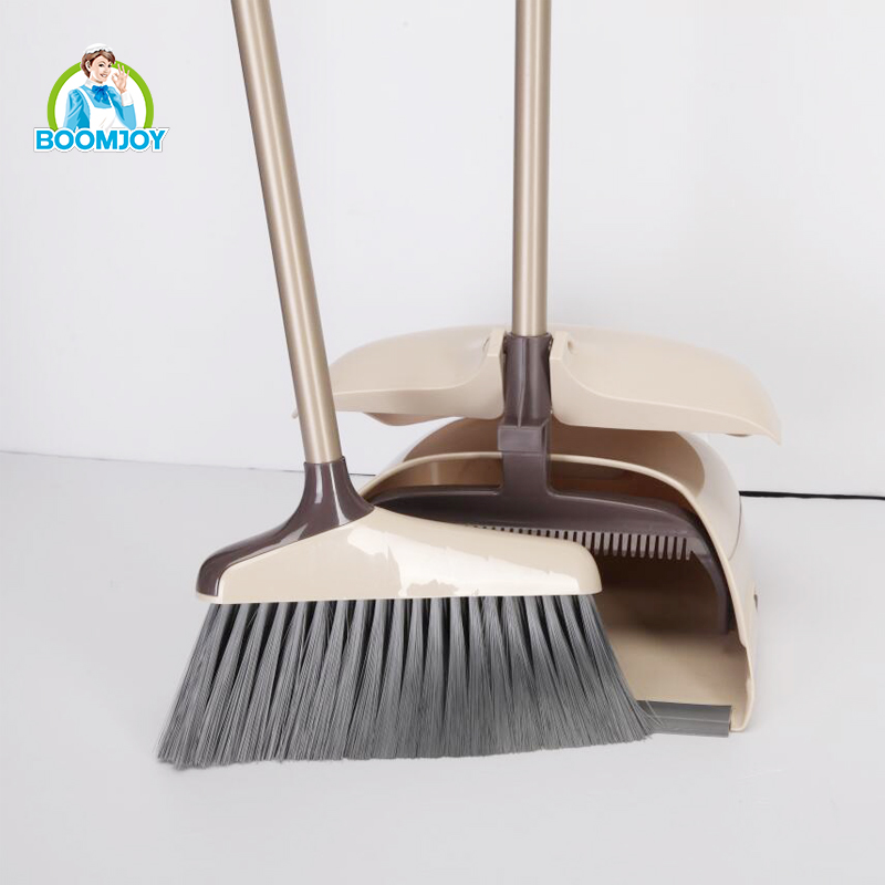 Cleaning tools plastic material new design broom and dustpan set