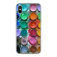 Fashion Oil Painting Coloured Pattern Soft Silicon TPU Protective back Case for iPhone X