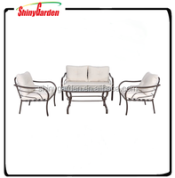 outdoor funiture steel sofa set