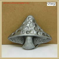 BUC9243 Best quality mushroom metal 3d shaped custom belt buckle makers in china
