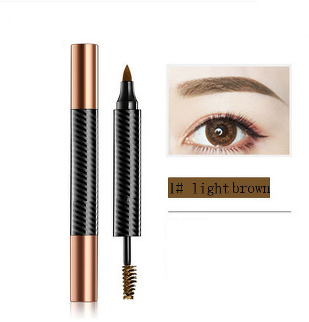 Double liquid eyebrow& eyebrow cream pen