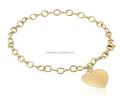 Fashion gold heart charm bangles and bracelets jewelry accessories for women