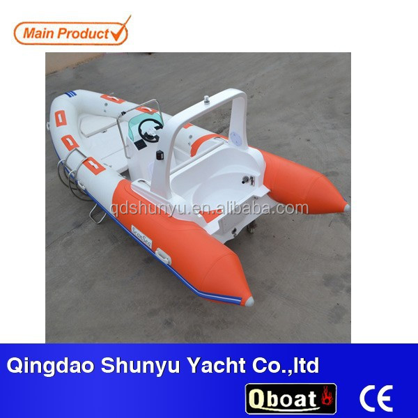 10 passengers double V deep hull 5.2m rigid inflatable rib boat factory