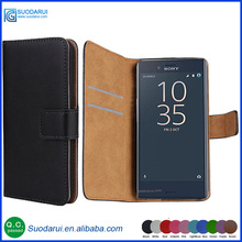 Book style Stand Wallet Flip PU Leather mobile phone Case for Sony Xperia X Compact Pouch Plain / Lichee pattern