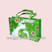 newest personalised promotional pp woven shopping bag