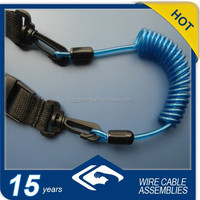 Blue Diving Accessory Quick Release coil Lanyard with velcro Strap
